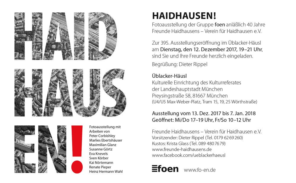 """Fotoausstellung der Gruppe Foen: """"Haidhausen!"""" im Üblacker-Häusl"""